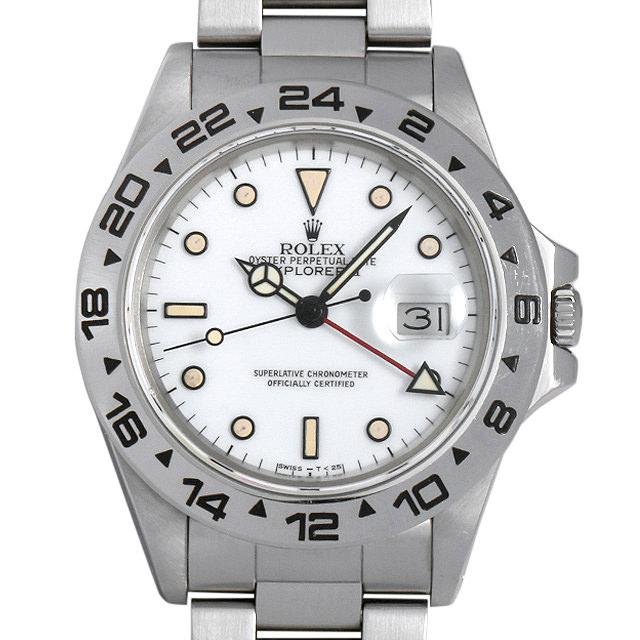 【48回払いまで無金利】ロレックス エクスプローラーII 87番 16550 ホワイト メンズ(0063ROAU0184)【中古】【腕時計】【送料無料】