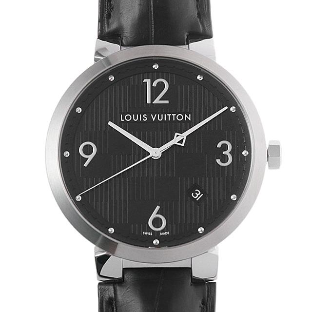 【48回払いまで無金利】ルイヴィトン タンブール ダミエ Q1D00 メンズ(008KLVAU0003)【中古】【腕時計】【送料無料】