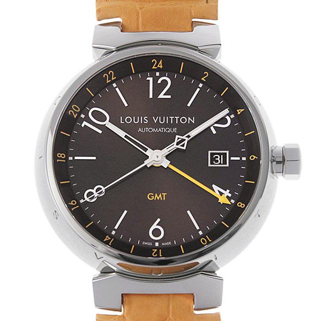 【48回払いまで無金利】ルイヴィトン タンブール オートマチック GMT Q1155Z メンズ(009MLVAU0003)【中古】【腕時計】【送料無料】