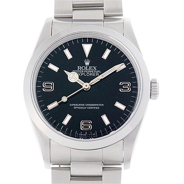 【48回払いまで無金利】ロレックス エクスプローラーI E番 14270 ブラックアウト メンズ(009MROAU0157)【中古】【腕時計】【送料無料】