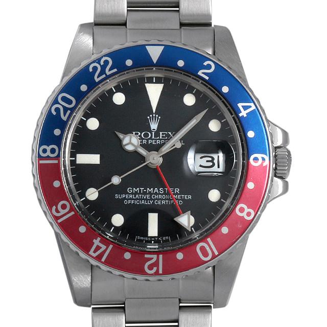 【48回払いまで無金利】ロレックス GMTマスター 赤青ベゼル 76番 16750 フチなし メンズ(08FDROAU0002)【中古】【腕時計】【送料無料】