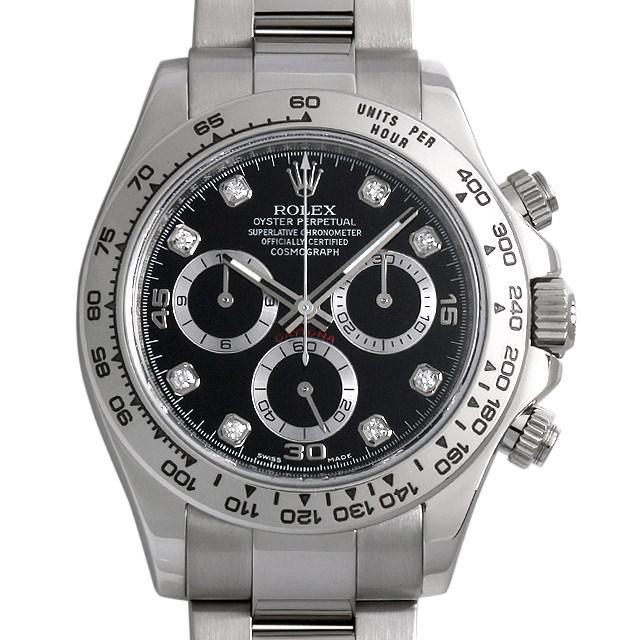 【48回払いまで無金利】ロレックス コスモグラフ デイトナ 8Pダイヤ G番 116509G ブラック メンズ(0GT3ROAU0001)【中古】【腕時計】【送料無料】