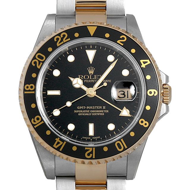 【48回払いまで無金利】SALE ロレックス GMTマスターII K番 16713 ブラック メンズ(0H54ROAU0001)【中古】【腕時計】【送料無料】