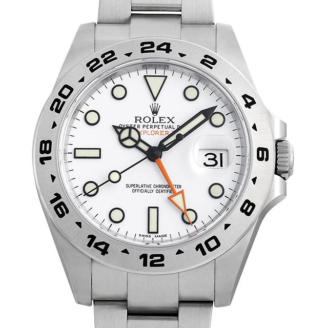 【48回払いまで無金利】ロレックス エクスプローラーII 216570 ホワイト メンズ(0CCTROAN0059)【新品】【腕時計】【送料無料】