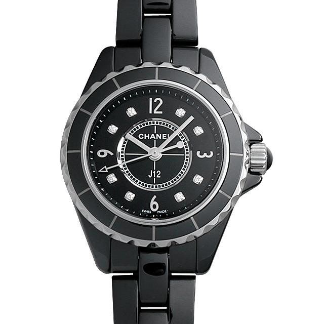 【48回払いまで無金利】シャネル J12 黒セラミック 8Pダイヤ H2569 レディース(0050CHAU0007)【中古】【腕時計】【送料無料】