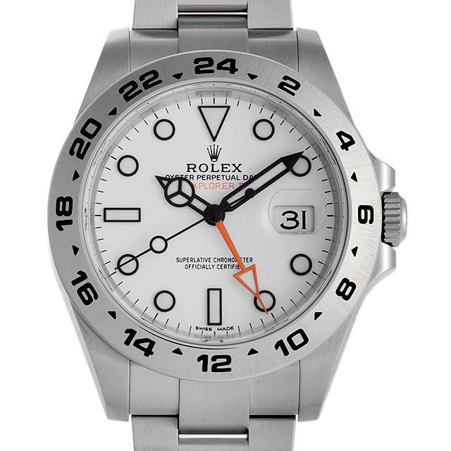【48回払いまで無金利】ロレックス エクスプローラーII ランダムシリアル 216570 ホワイト メンズ(0063ROAU0215)【中古】【腕時計】【送料無料】