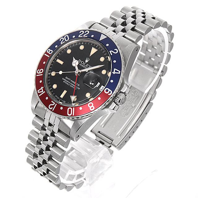 90107440ac54 【48回払いまで無金利】ロレックス GMTマスター 赤青ベゼル 83番 16750 フチあり ジュビリーブレス メンズ(006XROAU0705)【中古 】【腕時計】【送料無料】-メンズ腕時計