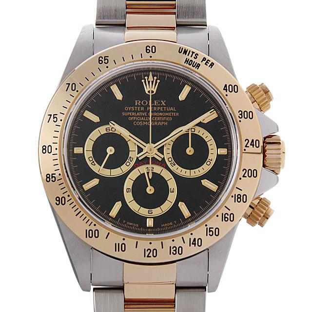 ロレックス コスモグラフ デイトナ U番 16523 ブラック メンズ(009VROAU0177)【中古】【腕時計】【送料無料】