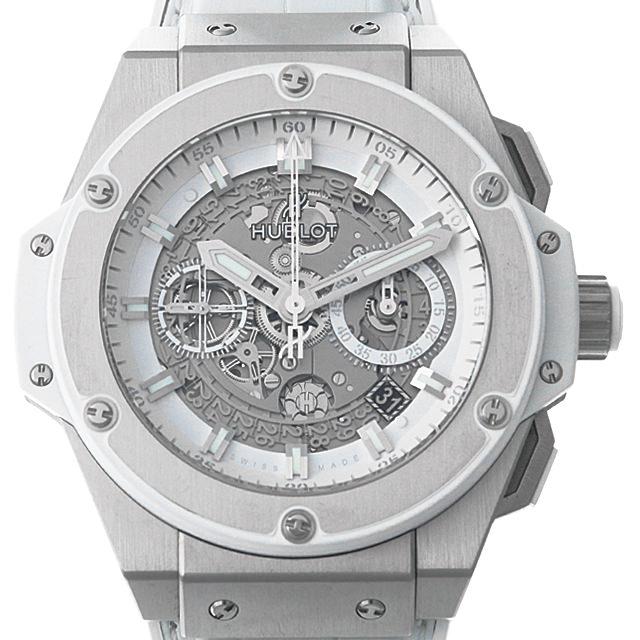 【48回払いまで無金利】ウブロ キングパワー ウニコ チタニウム ホワイト 701.NE.0127.GR メンズ(0F81HBAU0001)【中古】【腕時計】【送料無料】