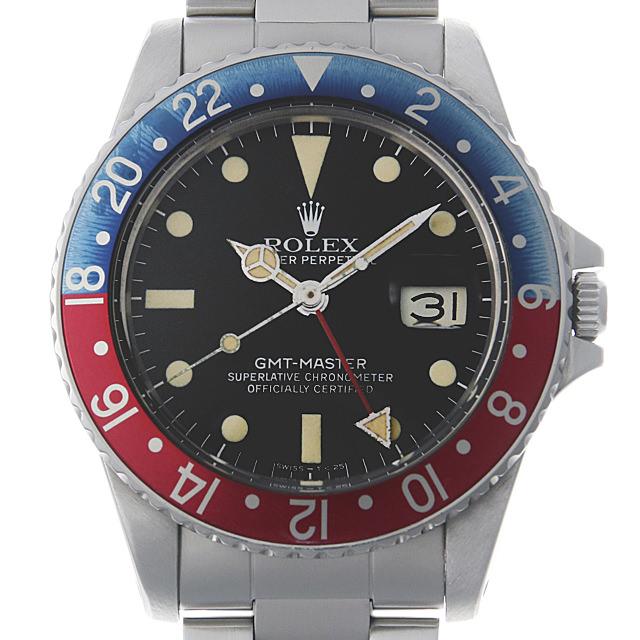【48回払いまで無金利】ロレックス GMTマスター 赤青ベゼル 71番 16750 フチなし メンズ(0FYUROAU0001)【中古】【腕時計】【送料無料】