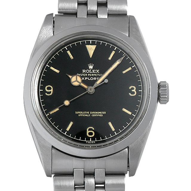 【48回払いまで無金利】ロレックス エクスプローラーI Cal.1560 1016 ミニッツサークルミラーダイアル メンズ(0GU4ROAA0001)【アンティーク】【腕時計】【送料無料】