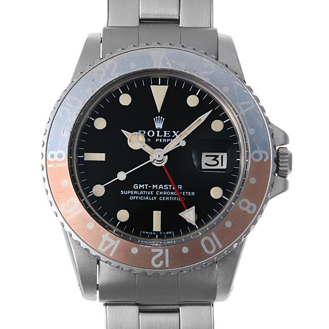 【48回払いまで無金利】ロレックス GMTマスター 1675 オールトリチウム USリベットブレス メンズ(0GWAROAA0001)【アンティーク】【腕時計】【送料無料】