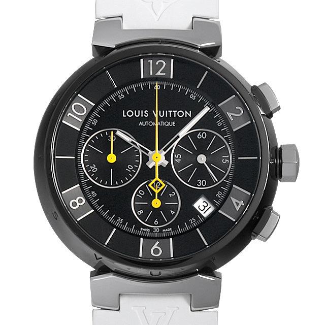 【48回払いまで無金利】ルイヴィトン タンブール イン ブラック オートマティック クロノグラフ Q112J1 メンズ(0HFJLVAU0002)【中古】【腕時計】【送料無料】