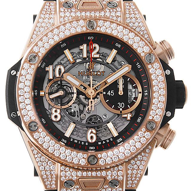 【48回払いまで無金利】ウブロ ビックバン ウニコ キングゴールド ダイヤモンド 411.OX.1180.RX.1704 メンズ(009FHBAN0117)【新品】【腕時計】【送料無料】