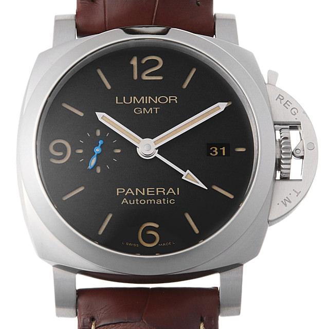 【48回払いまで無金利】パネライ ルミノール 1950 3デイズ GMT オートマティック アッチャイオ PAM01320 メンズ(0FHMOPAN0021)【新品】【腕時計】【送料無料】