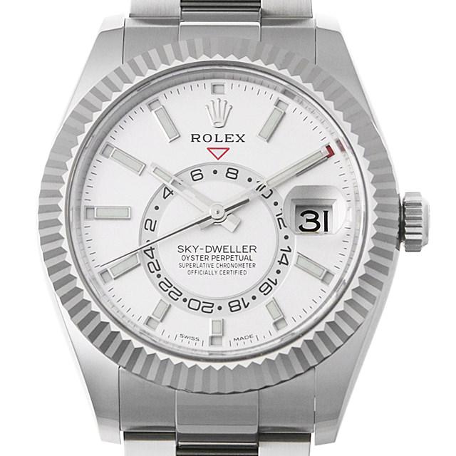 【48回払いまで無金利】ロレックス スカイドゥエラー 326934 ホワイト メンズ(0DF7ROAS0001)【中古】【未使用】【腕時計】【送料無料】