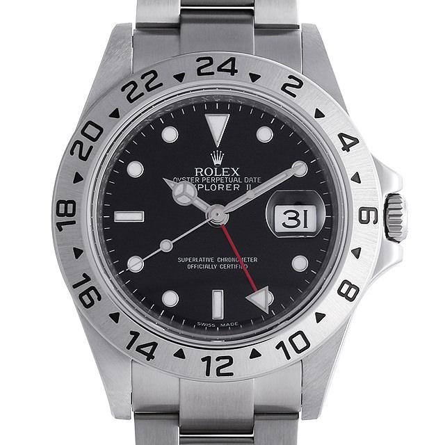 【48回払いまで無金利】ロレックス エクスプローラーII M番 16570 ブラック メンズ(006TROAU0020)【中古】【腕時計】【送料無料】