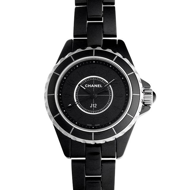 【48回払いまで無金利】シャネル J12 インテンスブラック H4196 レディース(006XCHAU0030)【中古】【腕時計】【送料無料】