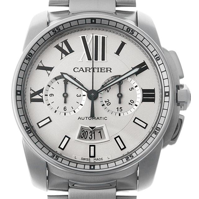【48回払いまで無金利】カルティエ カリブル ドゥ カルティエ クロノグラフ W7100045 メンズ(008KCAAU0053)【中古】【腕時計】【送料無料】