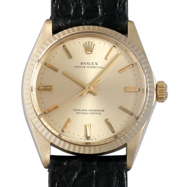 【48回払いまで無金利】ロレックス オイスターパーペチュアル Cal.1570 39番 シャンパン/バー 1005 メンズ(009MROAA0023)【アンティーク】【腕時計】【送料無料】
