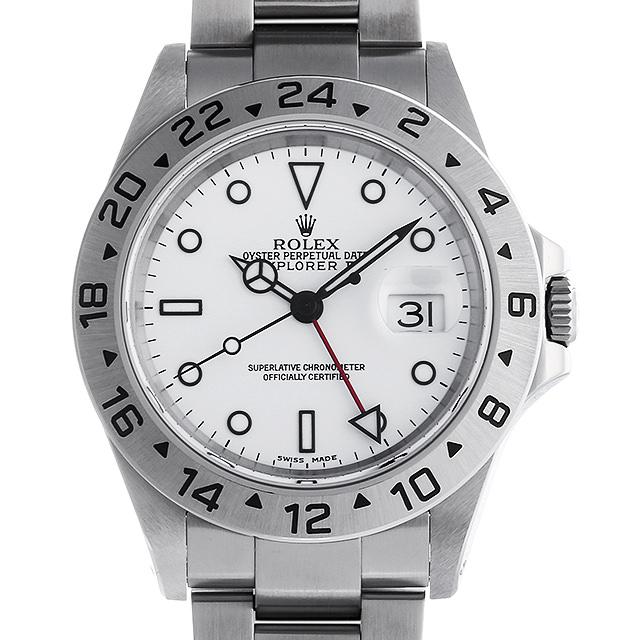 【48回払いまで無金利】ロレックス エクスプローラーII P番 16570 ホワイト メンズ(009VROAU0209)【中古】【腕時計】【送料無料】