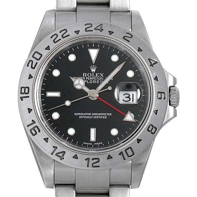 【48回払いまで無金利】ロレックス エクスプローラーII Y番 16570 ブラック メンズ(02LUROAU0001)【中古】【腕時計】【送料無料】