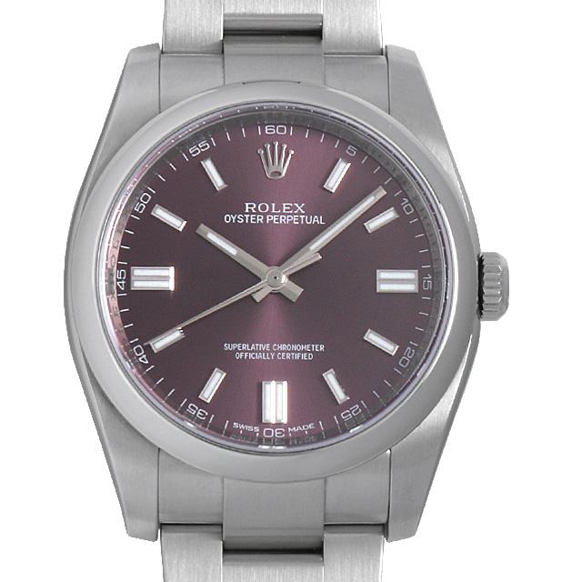 【48回払いまで無金利】ロレックス オイスターパーペチュアル ランダムシリアル 116000 レッドグレープ メンズ(0960ROAU0001)【中古】【腕時計】【送料無料】