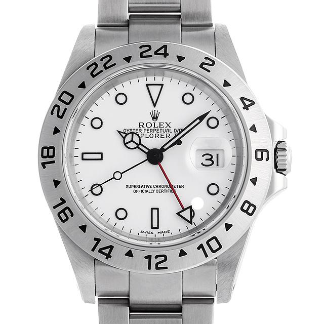 【48回払いまで無金利】ロレックス エクスプローラーII Y番 16570 ホワイト メンズ(0A89ROAU0074)【中古】【腕時計】【送料無料】