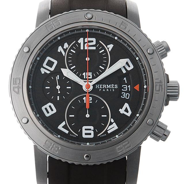【48回払いまで無金利】エルメス クリッパー クロノグラフ メカニックダイバーズ CP2.941 ブラウン メンズ(0BOHHEAU0001)【中古】【腕時計】【送料無料】