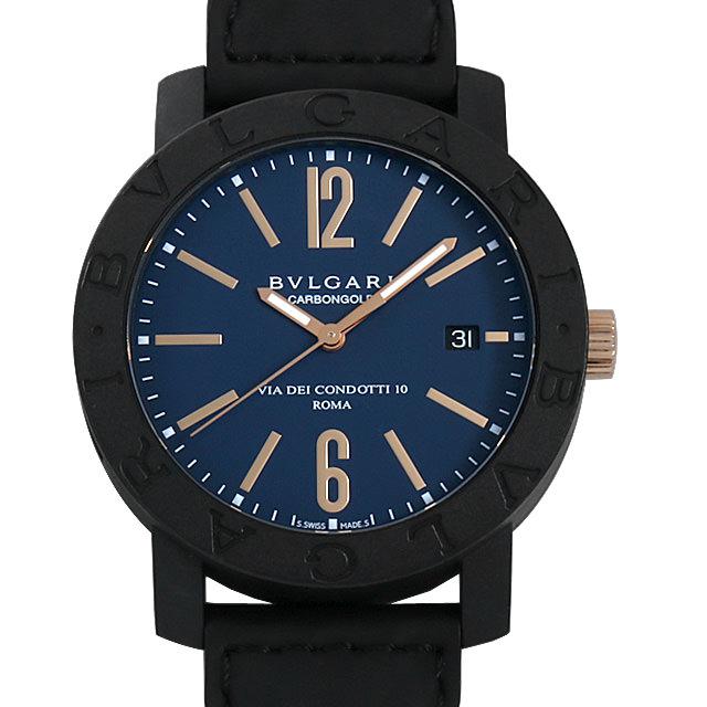 【48回払いまで無金利】ブルガリ ブルガリブルガリ カーボンゴールド BBP40C3CGLD メンズ(0CJGBVAU0001)【中古】【腕時計】【送料無料】