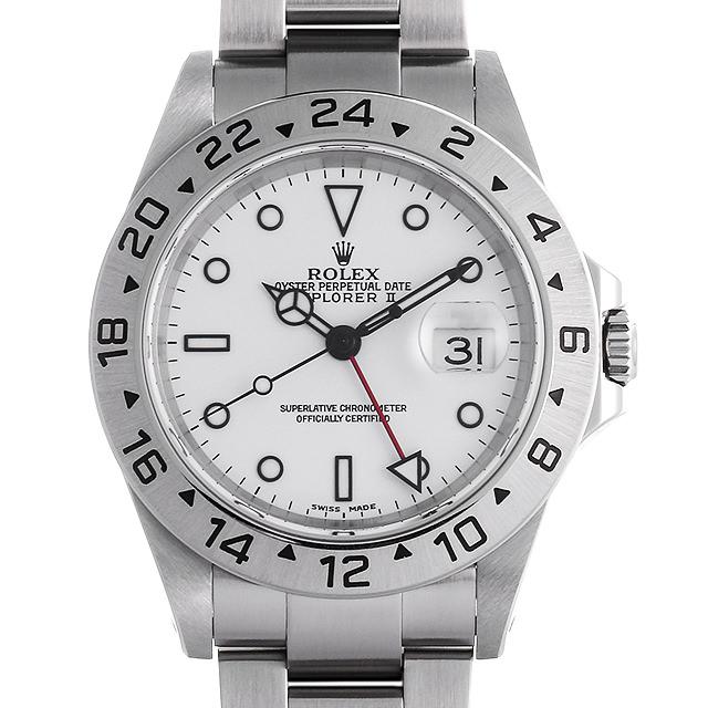 【48回払いまで無金利】ロレックス エクスプローラーII P番 16570 ホワイト メンズ(0HB0ROAU0001)【中古】【腕時計】【送料無料】