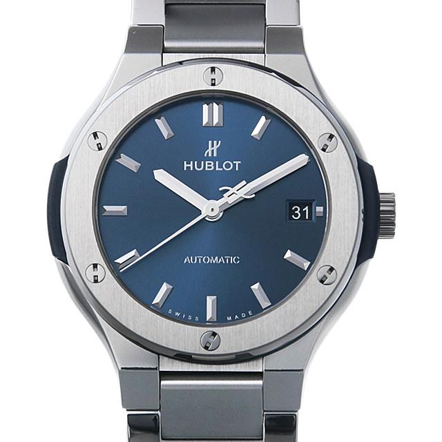 【48回払いまで無金利】ウブロ クラシックフュージョン ブルー チタニウム ブレスレット 568.NX.7170.NX メンズ(0HSOHBAU0001)【中古】【腕時計】【送料無料】