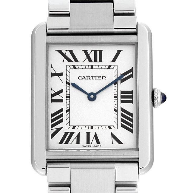 【48回払いまで無金利】カルティエ タンクソロ LM W5200014 メンズ(007UCAAS0004)【中古】【未使用】【腕時計】【送料無料】