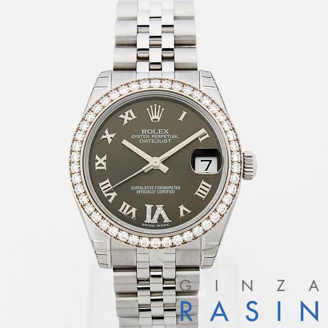 【48回払いまで無金利】ロレックス デイトジャスト VIダイヤ 178384 ボーイズ(ユニセックス)(N-178384BR6R)【新品】【腕時計】【送料無料】