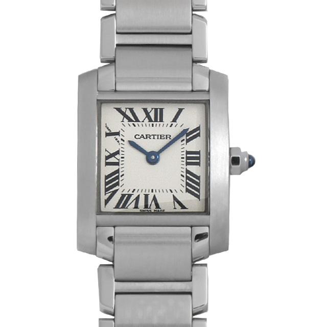 【48回払いまで無金利】カルティエ タンクフランセーズ SM W51008Q3 レディース(001HCAAU0105)【中古】【腕時計】【送料無料】