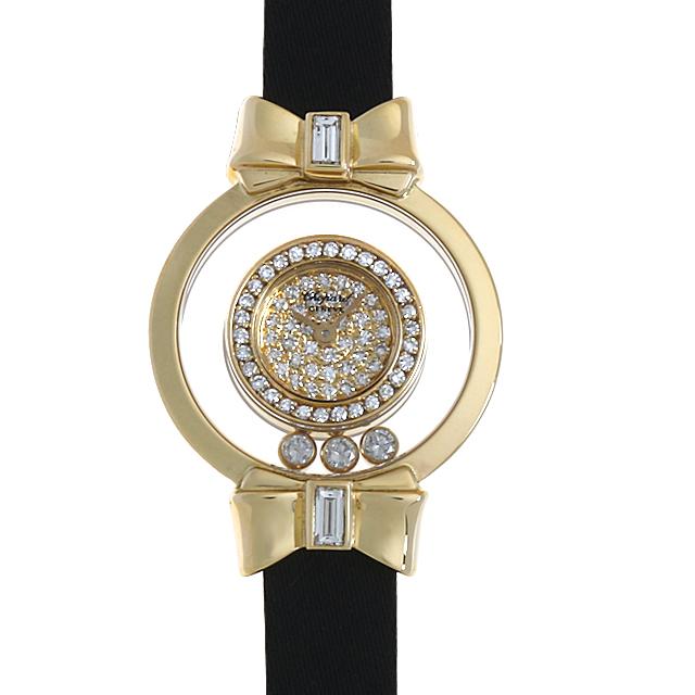 【48回払いまで無金利】SALE ショパール ハッピーダイヤモンド リボン 20/5334 レディース(001HCPAU0022)【中古】【腕時計】【送料無料】