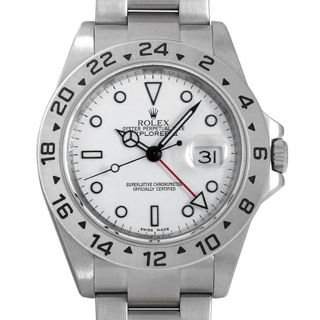 【48回払いまで無金利】ロレックス エクスプローラーII V番 16570 ホワイト メンズ(001HROAU0198)【中古】【腕時計】【送料無料】