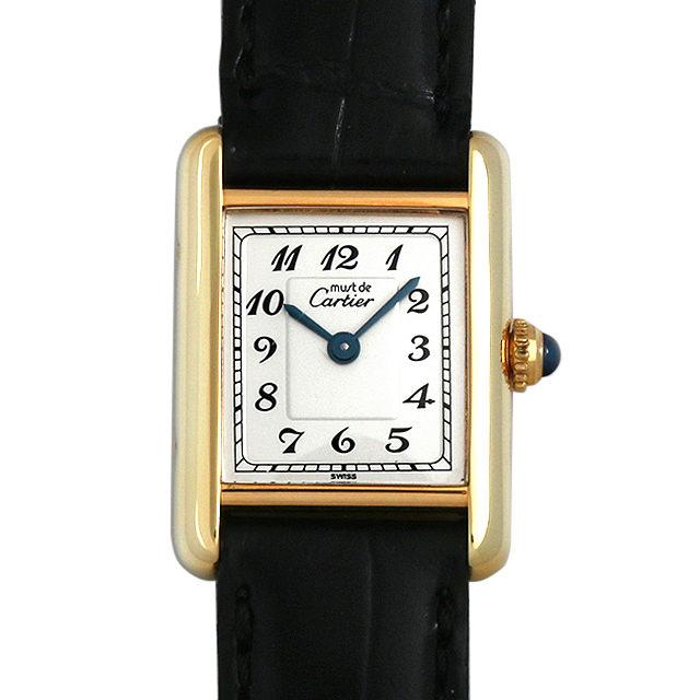 【48回払いまで無金利】カルティエ マストタンク SM ヴェルメイユ レディース(0063CAAU0029)【中古】【腕時計】【送料無料】