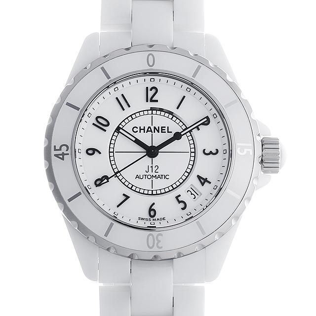 【48回払いまで無金利】シャネル J12 白セラミック H0970 メンズ(007UCHAU0035)【中古】【腕時計】【送料無料】