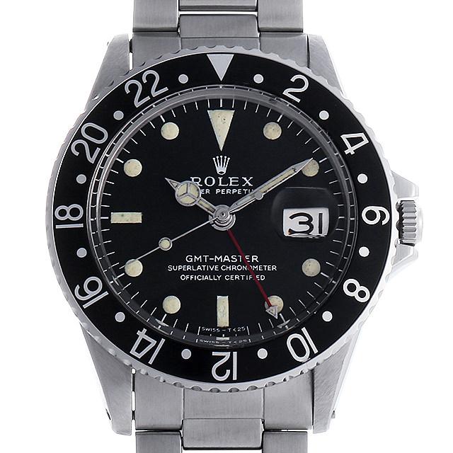 【48回払いまで無金利】ロレックス GMTマスター 黒ベゼル 16番 1675 ロングEダイアル/小針 メンズ(007UROAA0074)【アンティーク】【腕時計】【送料無料】