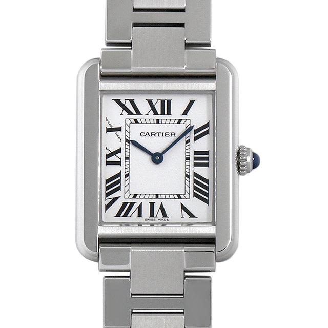 【48回払いまで無金利】カルティエ タンクソロ SM W5200013 レディース(0087CAAU0077)【中古】【腕時計】【送料無料】