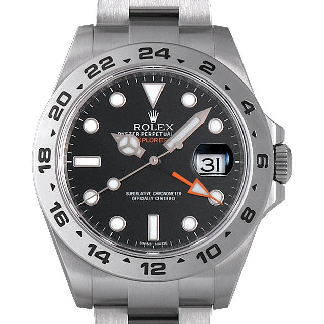 【48回払いまで無金利】ロレックス エクスプローラーII ランダムシリアル 216570 ブラック メンズ(008WROAU0231)【中古】【腕時計】【送料無料】