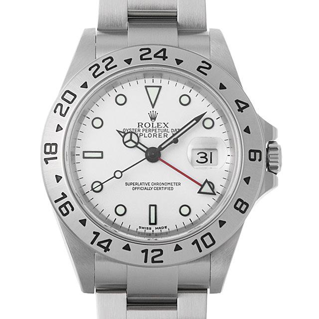 【48回払いまで無金利】ロレックス エクスプローラーII Y番 16570 ホワイト メンズ(02YZROAU0001)【中古】【腕時計】【送料無料】