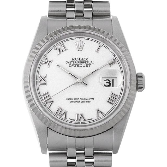 【48回払いまで無金利】ロレックス デイトジャスト W番 16234 ホワイト/ローマ メンズ(0A89ROAU0080)【中古】【腕時計】【送料無料】