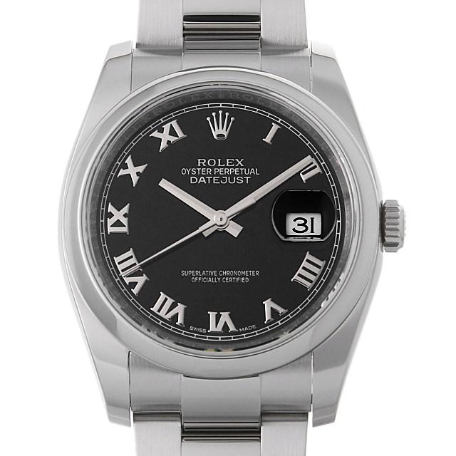 【48回払いまで無金利】ロレックス デイトジャスト ランダムシリアル 116200 ブラック/ローマ メンズ(0FORROAU0002)【中古】【腕時計】【送料無料】