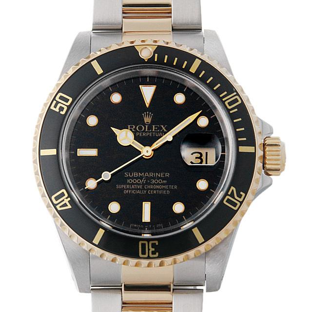 ロレックス サブマリーナ デイト E番 16613 ブラック メンズ(0I08ROAU0001)【中古】【腕時計】【送料無料】
