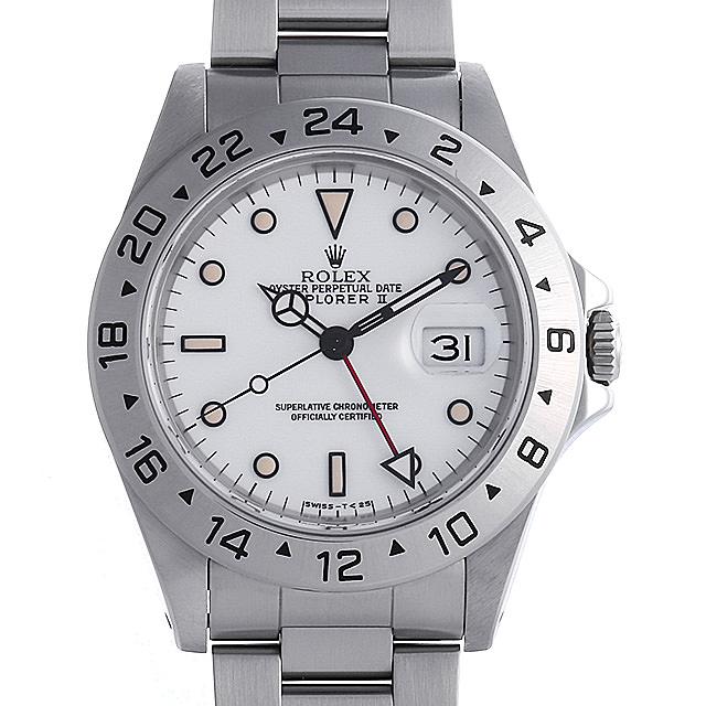 【48回払いまで無金利】ロレックス エクスプローラーII N番 16570 ホワイト メンズ(0I27ROAU0001)【中古】【腕時計】【送料無料】