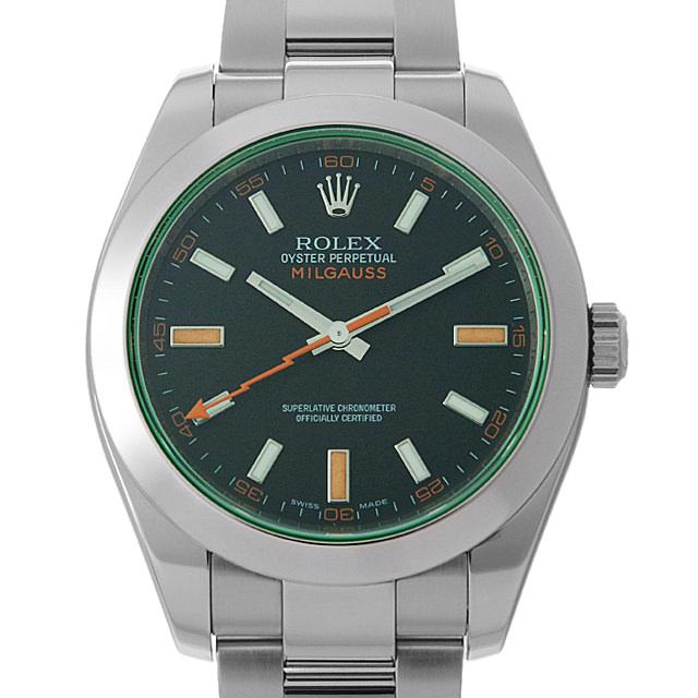 【48回払いまで無金利】SALE ロレックス ミルガウス M番 116400GV ブラック メンズ(0IC2ROAU0001)【中古】【腕時計】【送料無料】
