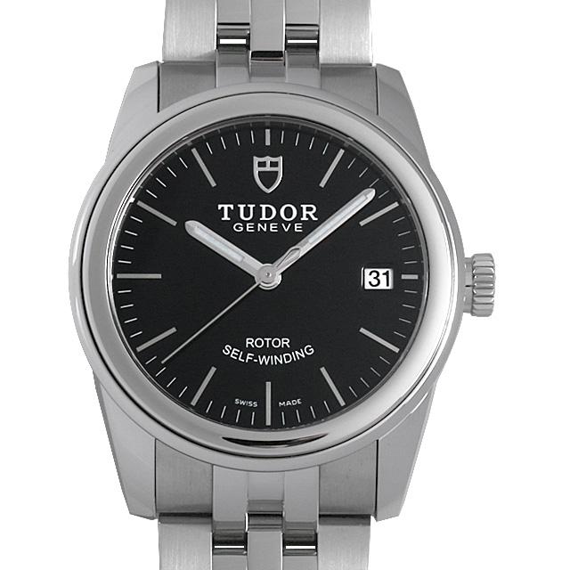 【48回払いまで無金利】チュードル グラマー デイト 55000 ブラック メンズ(015PTUAN0005)【新品】【腕時計】【送料無料】
