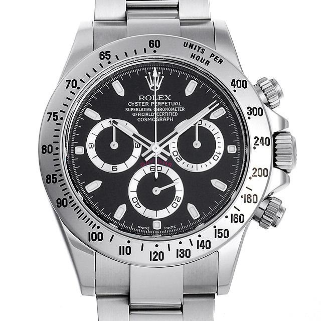 【48回払いまで無金利】ロレックス コスモグラフ デイトナ ランダムシリアル 116520 ブラック メンズ(001HROAU0207)【中古】【腕時計】【送料無料】